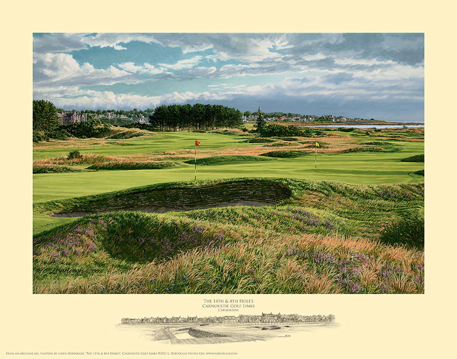 14th and 4th Holes Carnoustie - Open Edition