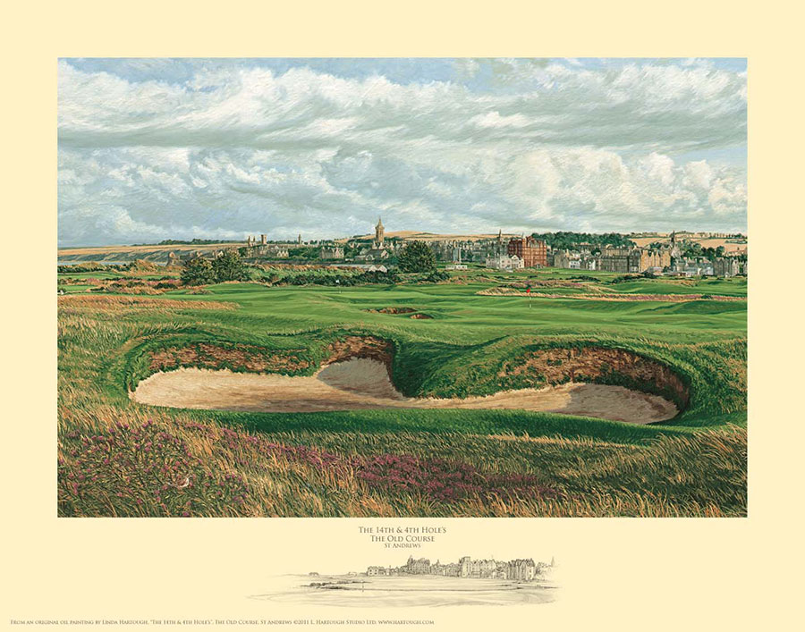 14th and 4th Holes St. Andrews - Open Edition