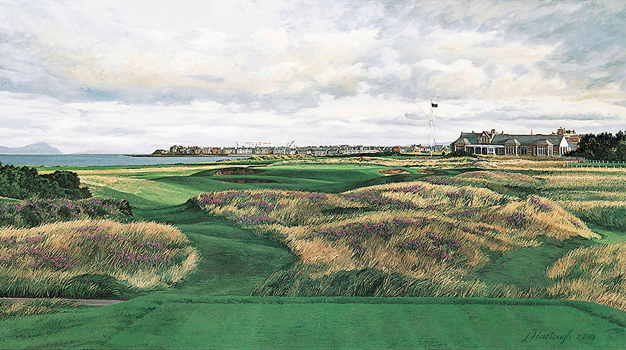 17th Hole and Clubhouse, Royal Troon