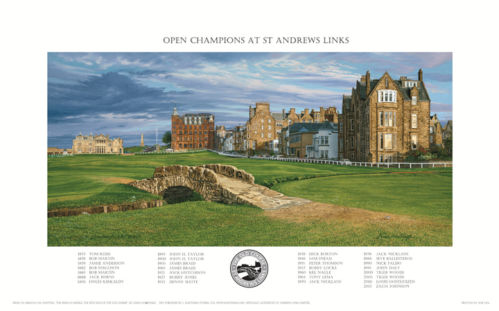 The 18th Hole, Swilcan Bridge, St Andrews - 2015 Open Championship Poster