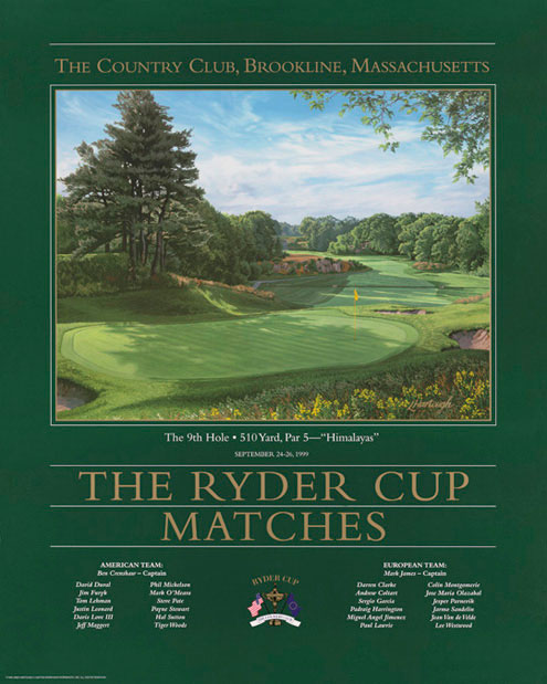 1999 Ryder Cup Poster - The 9th Hole,