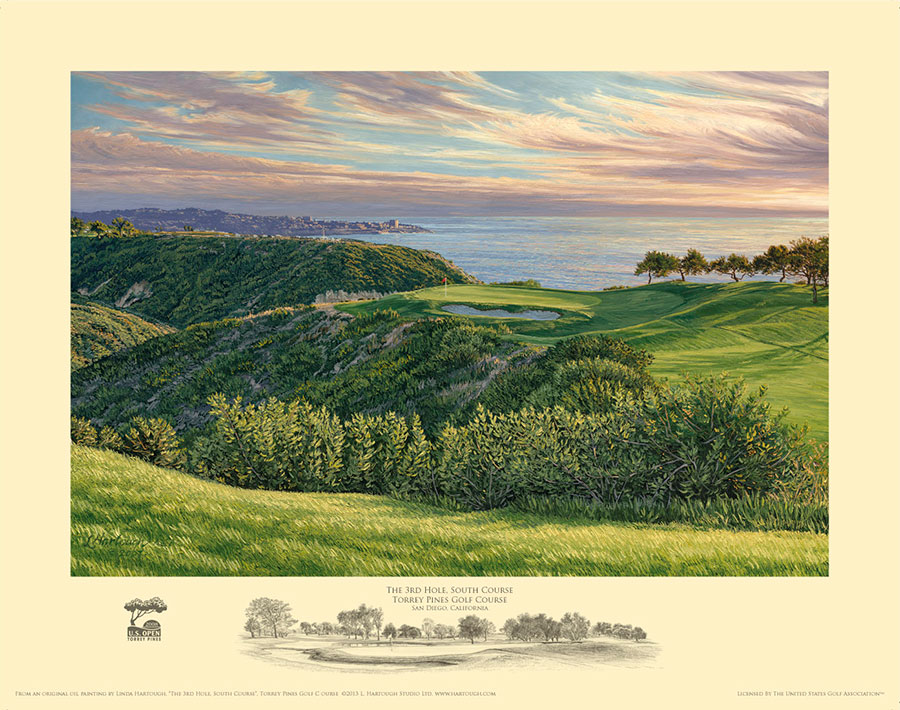 3rd Hole, Torrey Pines - Open Edition