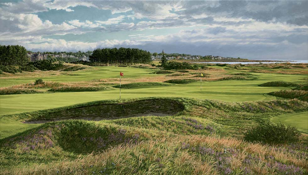 14th and 4th Holes Carnoustie