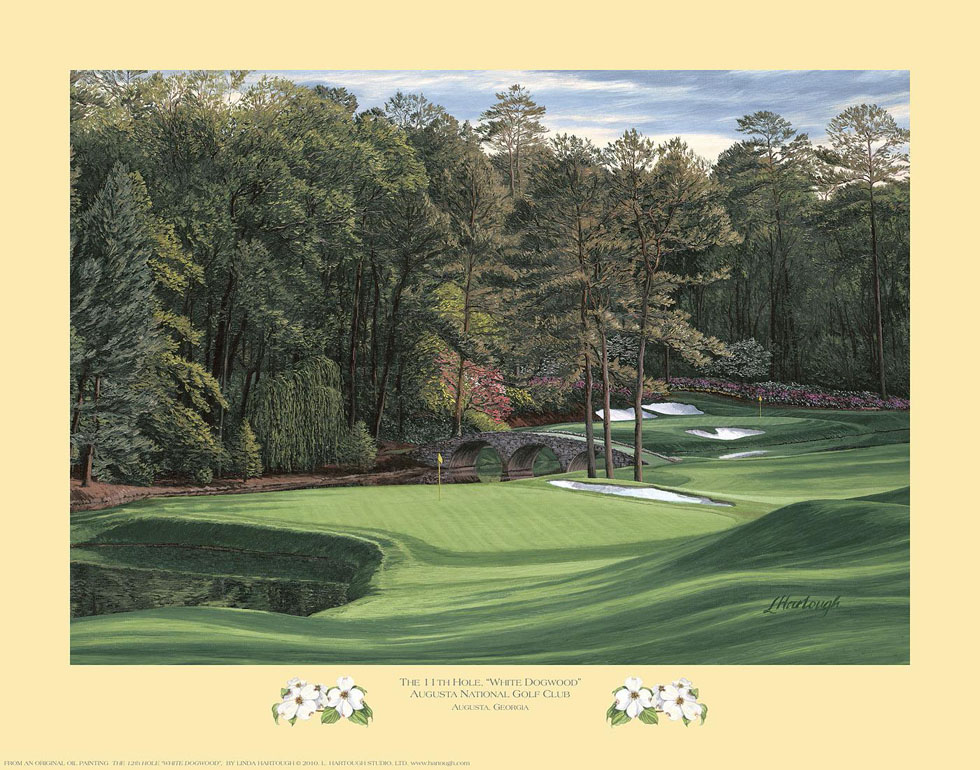 11th Hole, 'White Dogwood', Augusta National Golf Club - Open Edition