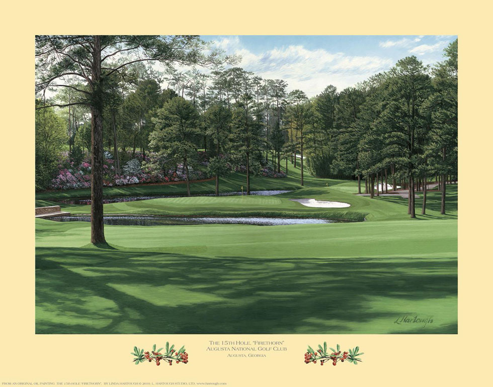 15th Hole, 'Firethorn', Augusta National Golf Club - Open Edition