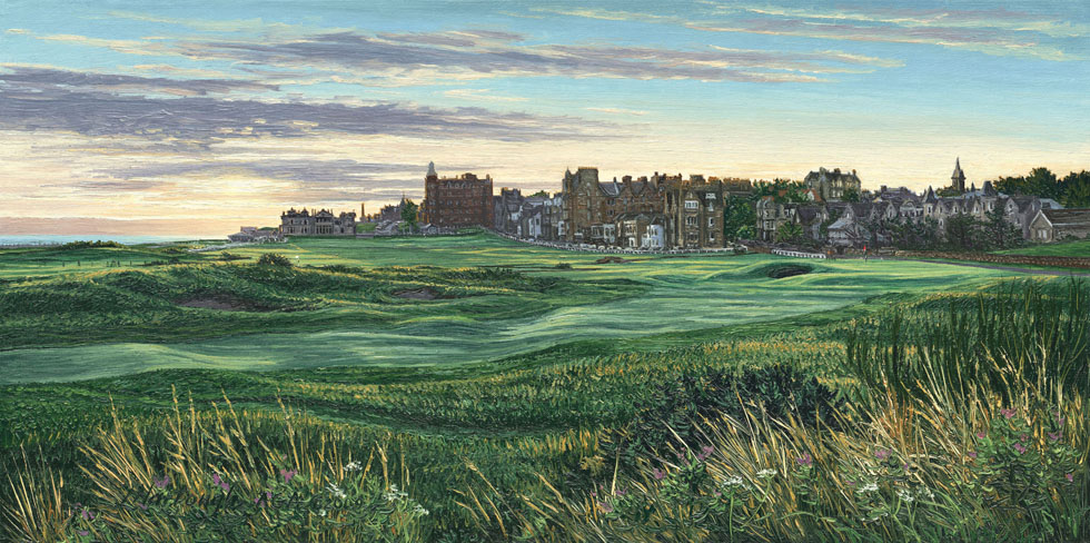 17th Hole, The Road Hole at Dawn St Andrews