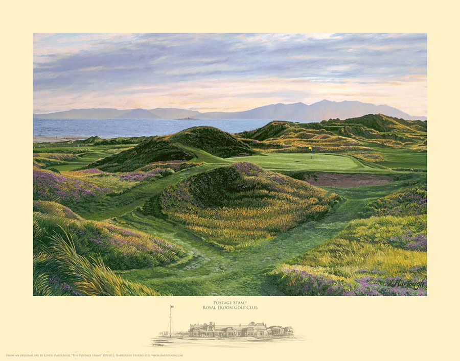 Postage Stamp Royal Troon - Open Edition